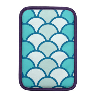 Refreshing Blue Water Wave Pattern Sleeve For iPad Mini