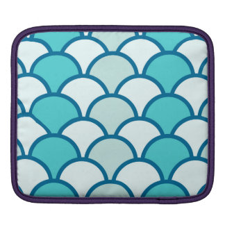 Refreshing Blue Water Wave Pattern Sleeve For iPads