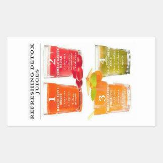 Refreshing Detox Juices Rectangular Sticker