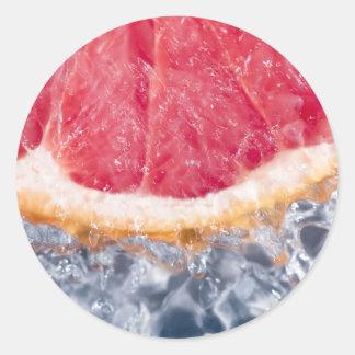 Refreshing Grapefruit Classic Round Sticker