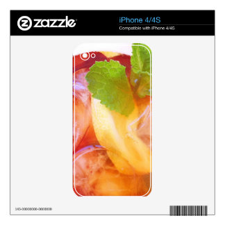 Refreshing HIpstamatic Ice Tea With iPhone skin Skin For The iPhone 4S