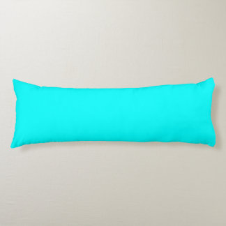 Refreshing Neon Blue Turquoise Solid Bright Color Body Pillow