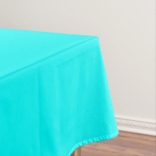 Refreshing Neon Blue Turquoise Solid Bright Color Tablecloth