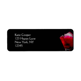 Refreshing Red and Pink Cocktail Label