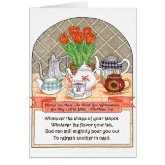 Refreshing Teapots Birthday Card