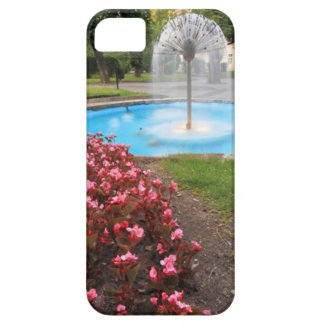 Refreshing Water Fountain & Park Scene iPhone SE/5/5s Case