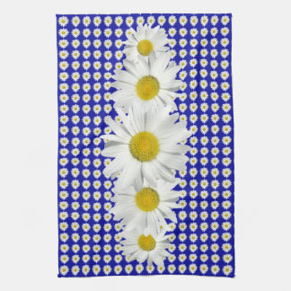 Refreshing White Daisy Crush Hand Towel