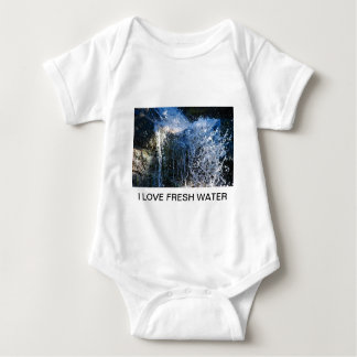 Refreshingly different waterfall baby bodysuit