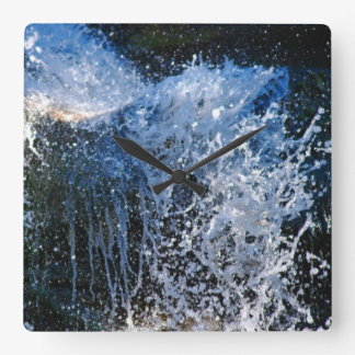 Refreshingly different waterfall square wallclock