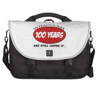 refresque 100 diseños del cumpleaños de los años bolsas para portatil