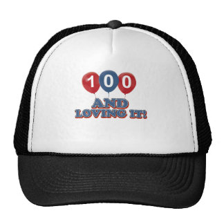 Refresque 100 diseños del cumpleaños de los años gorras de camionero