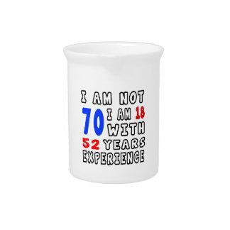 Refresque 70 diseños del cumpleaños jarras