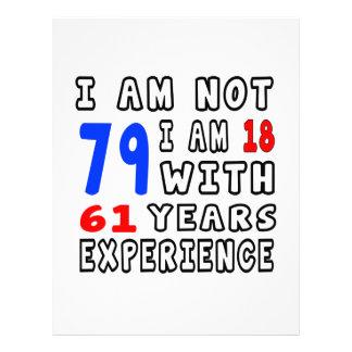 Refresque 79 diseños del cumpleaños membretes personalizados