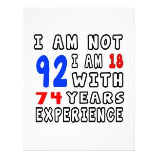 Refresque 92 diseños del cumpleaños membrete a diseño