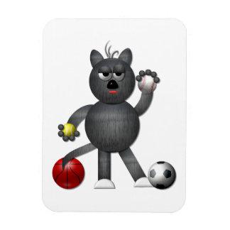 """Refresque al atleta """"tridimensional"""" del gato call iman rectangular"""