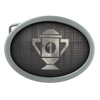 Refresque el 1r trofeo del lugar hebilla de cinturón oval