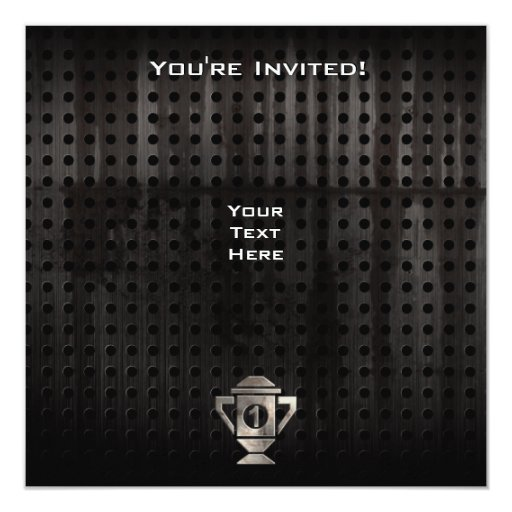 Refresque el 1r trofeo del lugar invitación 13,3 cm x 13,3cm