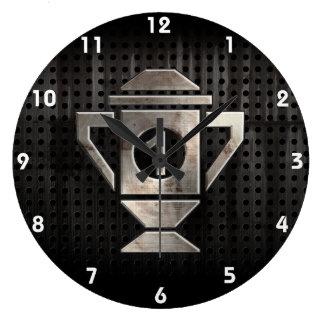 Refresque el 1r trofeo del lugar reloj redondo grande