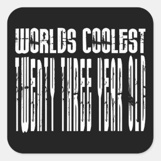 Refresque el 23ro: Años más frescos de los mundos Calcomanías Cuadradases