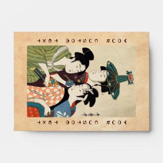 Refresque el arte japonés del geisha de la señora