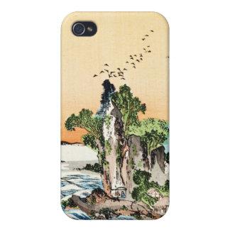 Refresque el arte japonés del pueblo de la roca de iPhone 4 carcasa