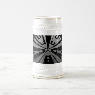 Refresque el arte moderno del rectángulo en negro tazas de café