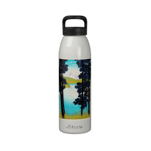 Refresque el arte oriental de la opinión de Fuji d Botellas De Beber