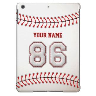 Refresque el béisbol cosido número 86 funda para iPad air