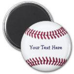 Refresque el béisbol personalizado imanes para frigoríficos