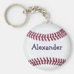 Refresque el béisbol personalizado llavero personalizado