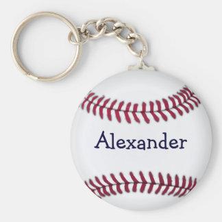Refresque el béisbol personalizado llavero redondo tipo pin