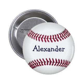 Refresque el béisbol personalizado pin redondo de 2 pulgadas