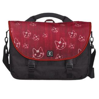Refresque el bolso japonés del rojo cereza del gat bolsas de portatil