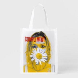 ¡Refresque el bolso reutilizable del cumplido! Bolsas Para La Compra