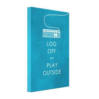 refresque el cierre de sesión y el juego de la cit lona envuelta para galerias