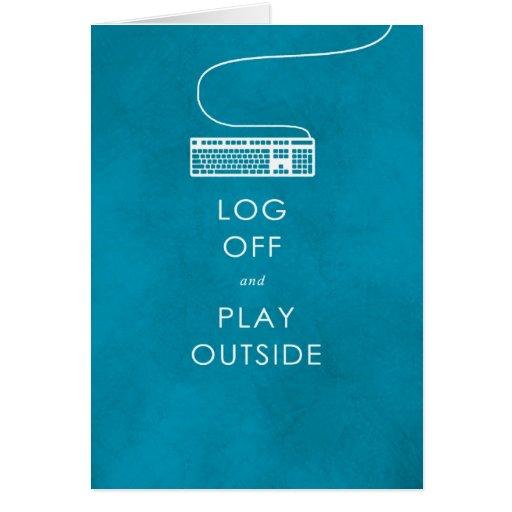 refresque el cierre de sesión y el juego de la cit tarjeta de felicitación