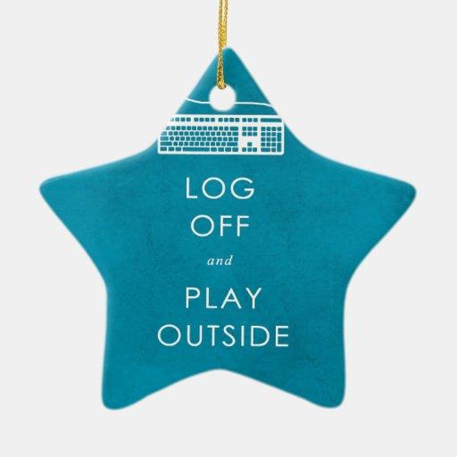 refresque el cierre de sesión y el juego de la adorno de cerámica en forma de estrella