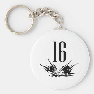 Refresque el décimosexto regalo de cumpleaños llaveros personalizados