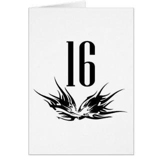 Refresque el décimosexto regalo de cumpleaños tarjeta de felicitación