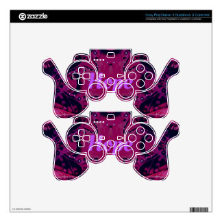 Refresque el diseño artístico magenta de la skins para mandos PS3
