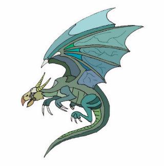 refresque el dragón verde-entonado fotoescultura vertical