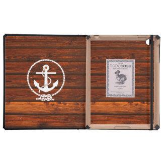 Refresque el grunge de madera antiguo náutico del  iPad coberturas
