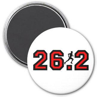 Refresque el maratón 26,2 imán redondo 7 cm