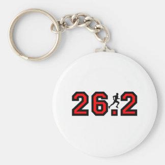 Refresque el maratón 26,2 llavero redondo tipo pin