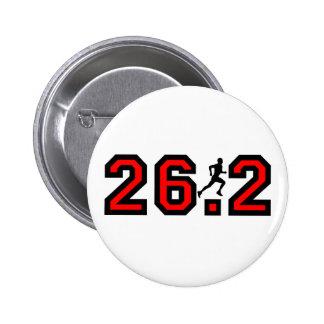 Refresque el maratón 26,2 pin redondo de 2 pulgadas