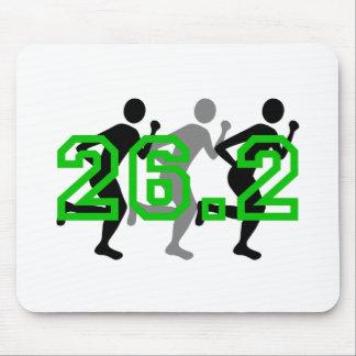 Refresque el maratón 26,2 tapete de ratón