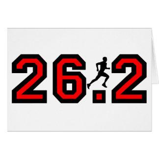 Refresque el maratón 26,2 tarjeta de felicitación
