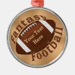Refresque el ornamento personalizado del fútbol de ornamentos de reyes