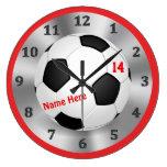 Refresque el reloj personalizado del fútbol para l