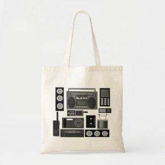 Refresque el revoltijo retro de la electrónica en  bolsa tela barata